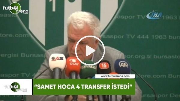 "Ali Ay: ""Samet hoca 4 transfer istedi"""