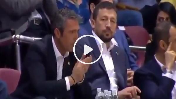 Ali Koç, İzmir Marşı'na eşlik etti!