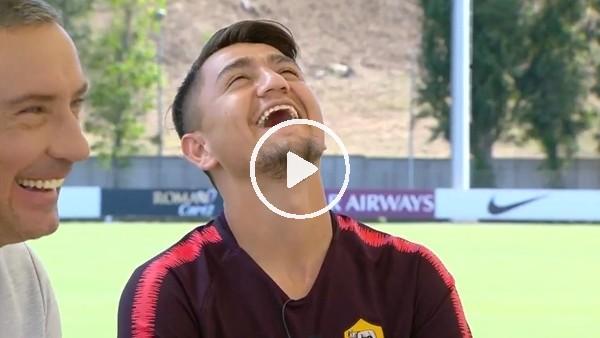 """'Cengiz Ünder'in röportajında komik anlar! """"Abi Türkçe anlatacaktın..."""""""