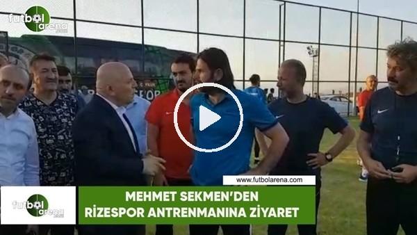 Erzurum Büyük Şehir Belediye Başkanı Mehmet Sekmen, Rizespor kampını ziyaret etti