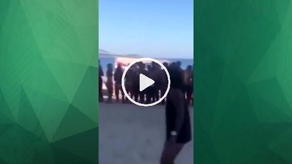 Marcelo bu kez de plajların tozunu attırıyor