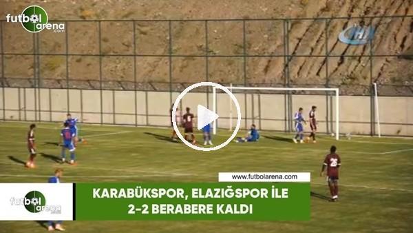'Kardemir Karabükspor, Elazığspor ile 2-2 berabere kaldı