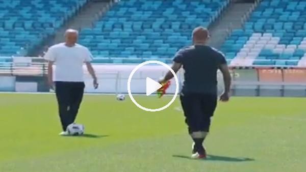 Beckham ve Zidane yeşil sahada!