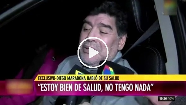 Maradona konuşmakta zorluk çekti