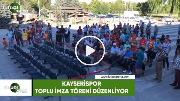 Kayserispor'da yeni transferler için imza töreni düzenleniyor