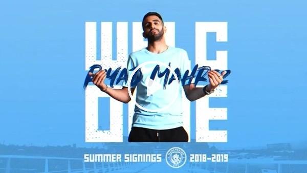 'Manchester City,  Riyad Mahrez transferini böyle duyurdu