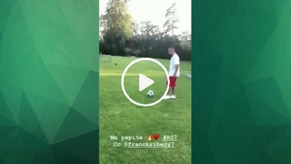Ribery'nin oğlu şov yaptı!