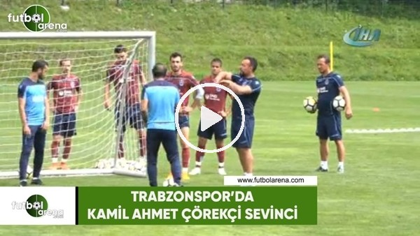 Trabzonspor'da Kamil Ahmet Çörekçi sevinci