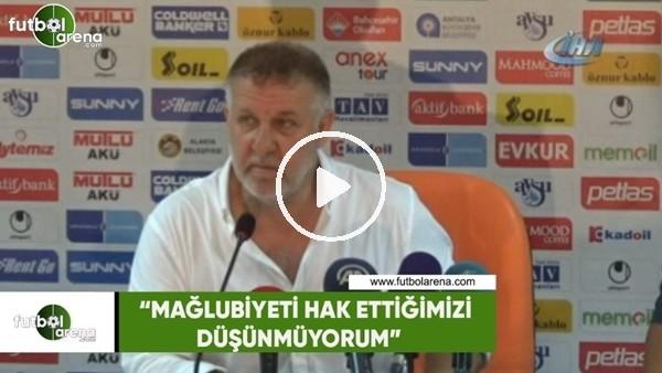 """'Mesut Bakkal: """"Mağlubiyeti hak ettiğimizi düşünmüyorum"""""""