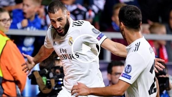 Karim Benzema'nın Atletico Madrid'e attığı şık gol