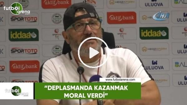"""Mustafa Reşit Akçay: """"Deplasmanda kazanmak moral verdi"""""""