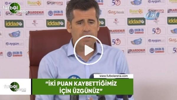"""'Hüseyin Eroğlu: """"İki puan kaybettiğimiz için üzgünüz"""""""