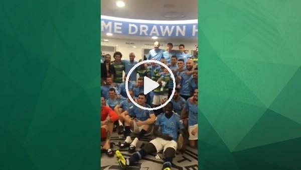 Manchester Cityli futbolcular galibiyeti David Silva'nın bebeğiyle kutladı