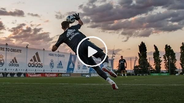 'Courtois, Real Madrid ile ilk antrenmanına çıktı!