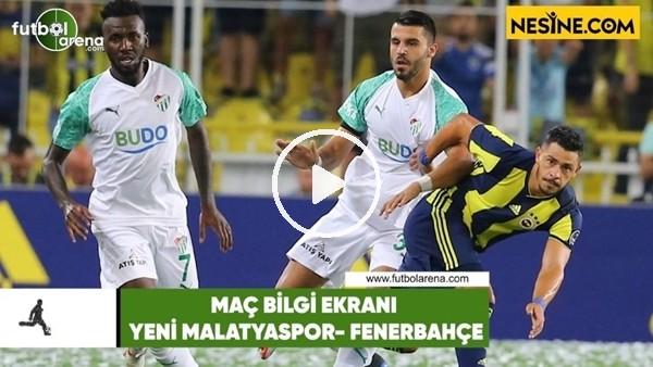 Yeni Malatyaspor - Fenerbahçe | Bilgi Ekranı