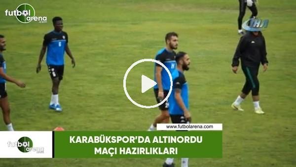 'Karabükspor'da Altınordu maçı hazırlıkları