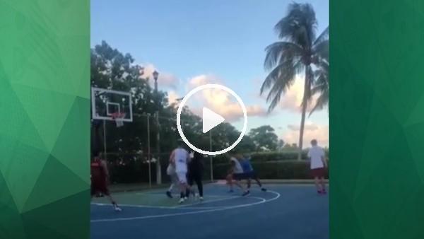 'Antonie Griezmann'ın basketbol keyfi