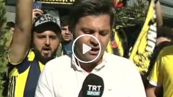 'Fenerbahçeli taraftarlardan canlı yayında tezahürat