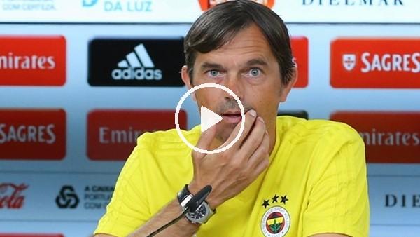 Phillip Cocu, Benfica maçı öncesi basın toplantısı düzenledi