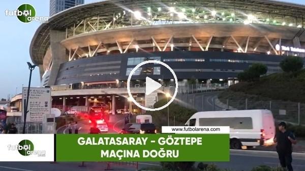 Galatasaray takım otobüsü Göztepe maçı için stada geldi