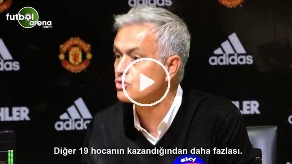 """'Mourinho'dan basın toplantısında tepki! """"Bana saygı duy..."""""""