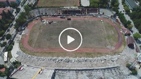 'Eskişehir Atatürk Stadında yıkım devam ediyor