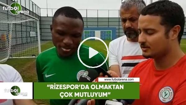 """Umar Aminu: """"Rizespor'da olmaktan çok mutluyum"""""""