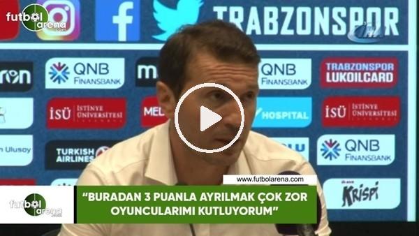 """'Bayram Bektaş: """"Buradan 3 puanla ayrılmak çok zor oyuncularımı kutluyorum"""""""