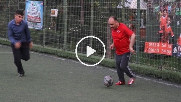 'Isparta Valisi Şehmus Günaydın gazilerle futbol maçı yaptı