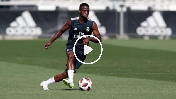Vinicius Junior'dan antrenmanda şık gol