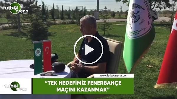 """'Rıza Çalımbay: """"Tek hedefimiz Fenerbahçe maçını kazanmak"""""""