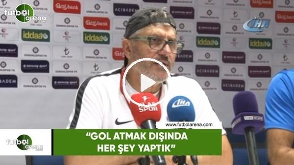 """'Mustafa Reşit Akçay: """"Gol atmak dışında her şeyi yaptık"""""""