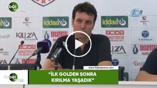 """'Cihat Arslan: """"İlk golden sonra kırılma yaşadık"""""""