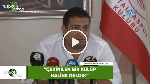 """'Ali Şafak Öztürk: """"Çekinilen bir kulüp haline geldik"""""""
