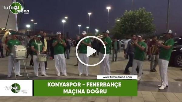 'Konyaspor - Fenerbahçe maçı öncesi bir bando takımı konser verdi