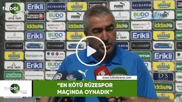 """'Samet Aybaba: """"En kötü Rizespor maçında oynadık"""""""