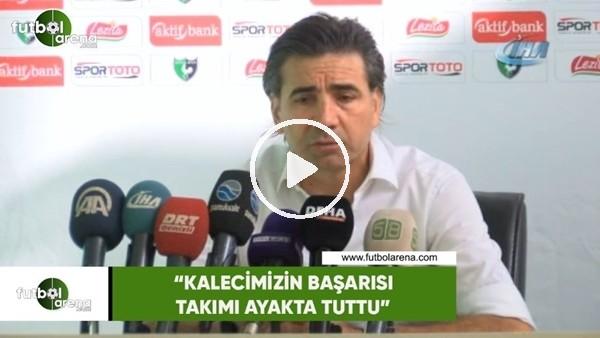 """'Osman Özköylü: """"Kalecimizin başarısı takımı ayakta tuttu"""""""