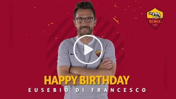 Roma'dan Di Francesco'ya doğum günü sürprizi!