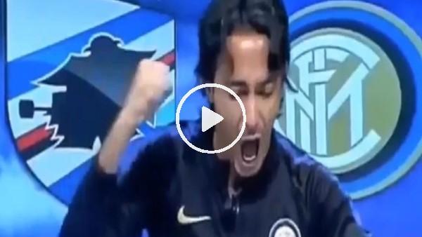 'Inter uzatmalarda golü bulunca spiker çıldırdı!