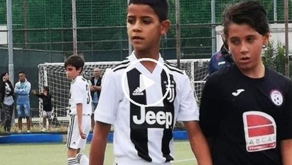 Cristiano Ronaldo'nun oğlu ilk maçında 4 gol attı