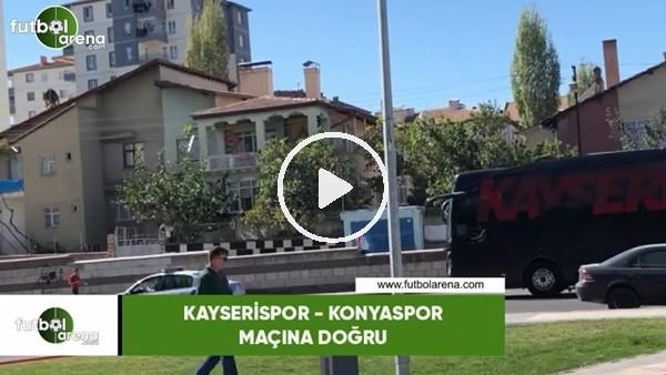 'Kayserispor takım otobüsü Konyaspor maçı için stada geldi