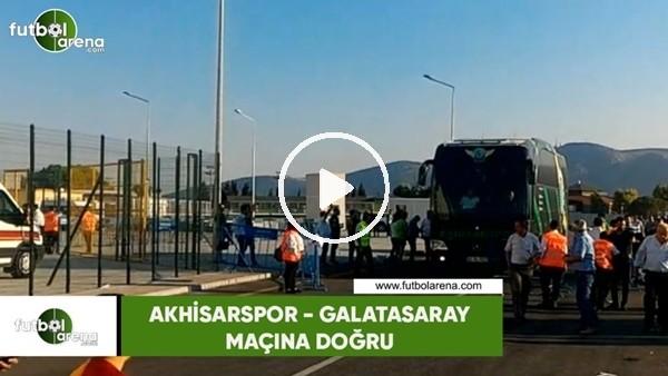 'Akhisarspor ve Galatasaray takım otobüsleri stada geldi