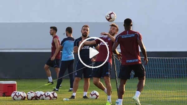 'Trabzonspor, 15 eksikle çalıştı
