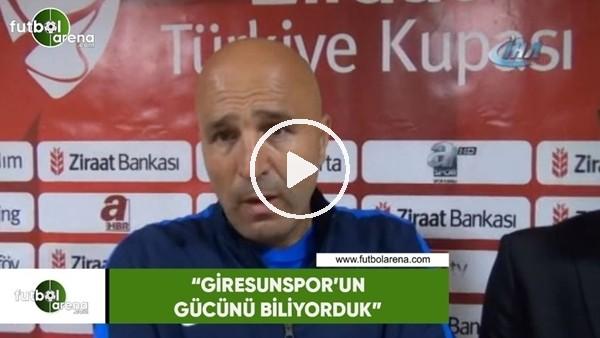 """'Galip Gündoğdu: """"Giresunspor'un gücünü biliyorduk"""""""