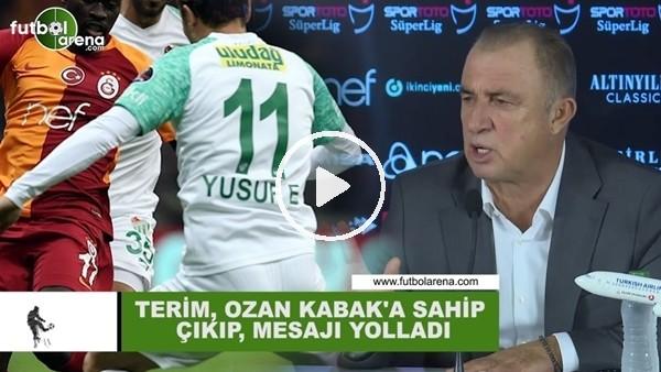 'Fatih Terim, Ozan Kabak'a sahip çıktı ve mesajı yolladıı