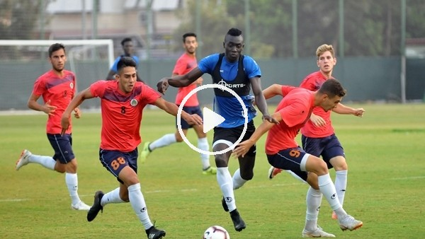 'Alanyaspor, Antalyaspor maçı hazırlıklarını sürdürdü