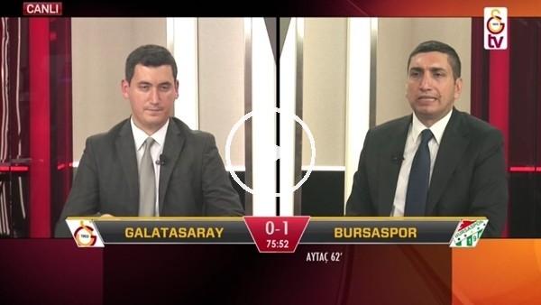 'Eren Derdiyok'un Bursaspor'a attığı golde GS TV'de büyük sevinç