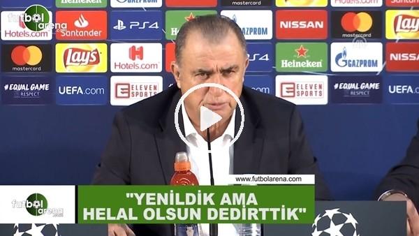 """Fatih Terim: """"Yenildik ama helal olsun dedirttik"""""""
