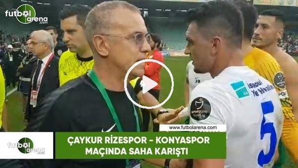 'Çaykur Rizespor - Konyaspor maçında saha karıştı