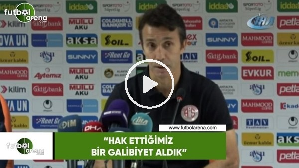 """'Bülent Korkmaz: """"Hakkettiğimiz bir galibiyet aldık"""""""